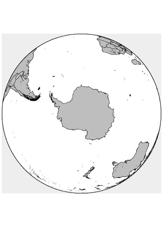 Coloring page Southpole