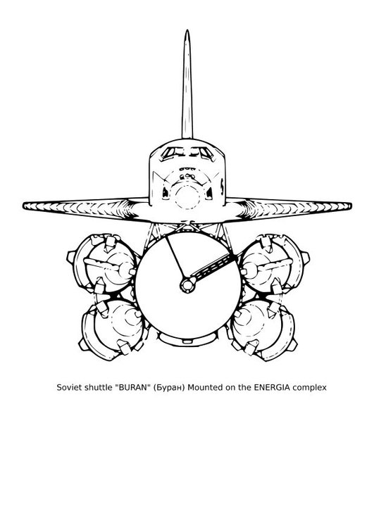 Coloring page Soviet shuttle