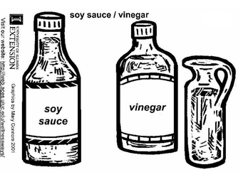Coloring page soy sauce and vinegar