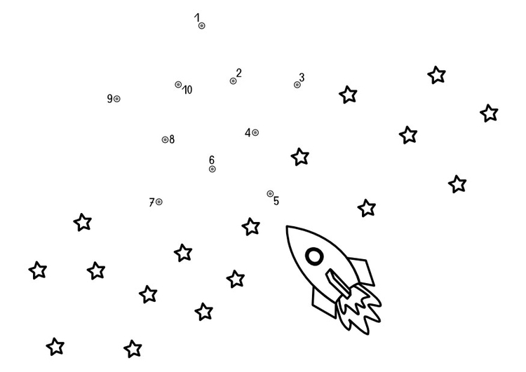 Coloring page space