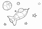 Coloring pages Space