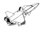 Coloring page space shuttle
