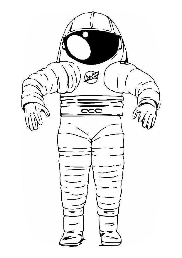 astronaut suit coloring sheet - photo #34