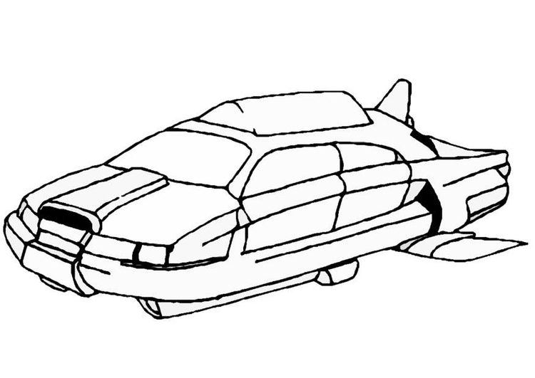 Coloring page space vehicle
