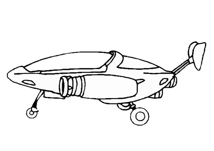 Coloring page spaceship