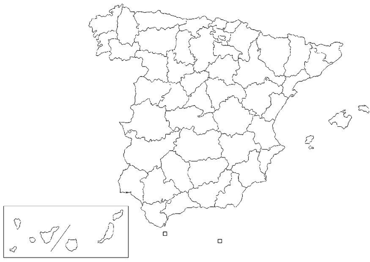 Coloring page Spanish provinces