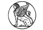 Coloring page sphinx