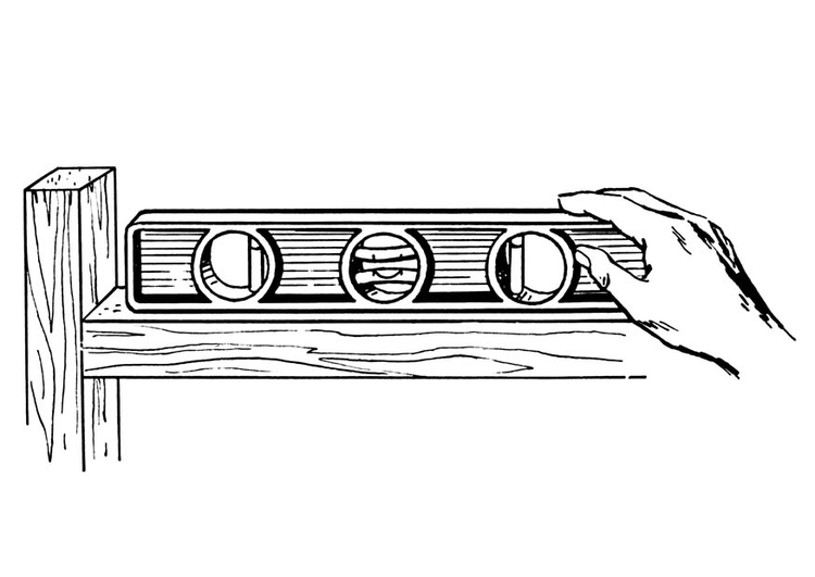Coloring page spirit level