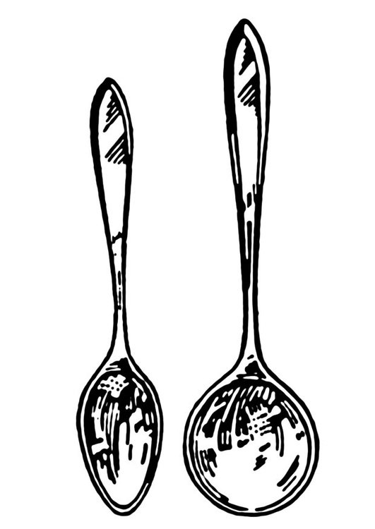 Coloring page spoon