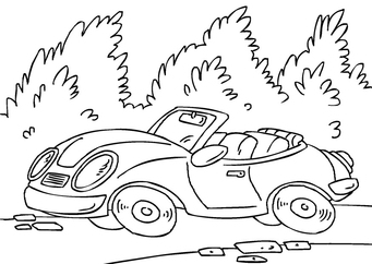 Coloring page sports car