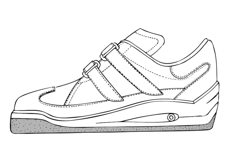 Coloring page Sports Shoe