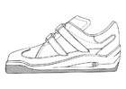 Coloring pages Sports Shoe