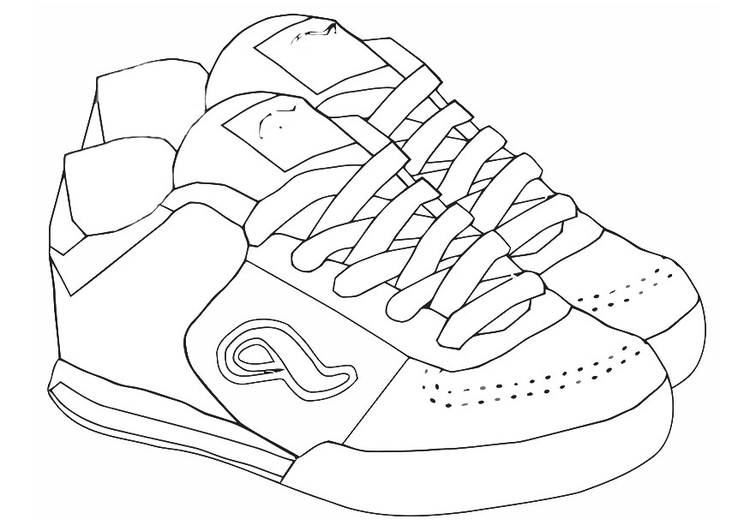 Coloring page sports shoes