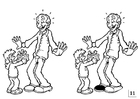 Coloring page spot the difference - Father's Day
