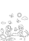 Coloring pages spring, summer is coming