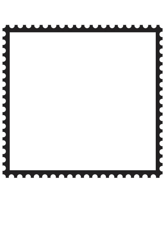 Coloring page Square Postage Stamp