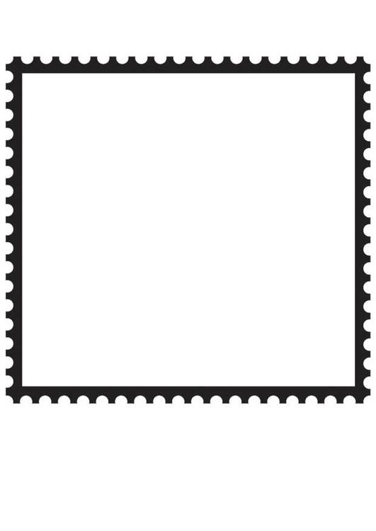 Square Postage Stamp