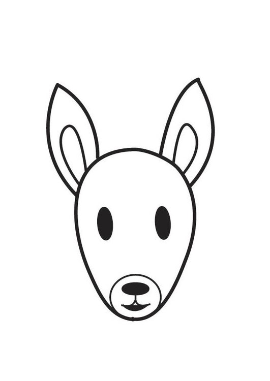 Coloring page Squirrel Head