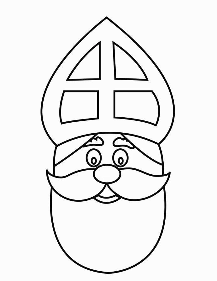 Coloring page St Nicholas Face 2 img 16169