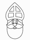 Coloring pages St. Nicholas Face (2)