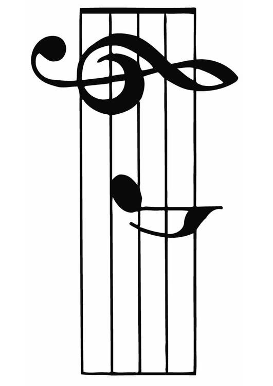 Coloring Page Staff Music