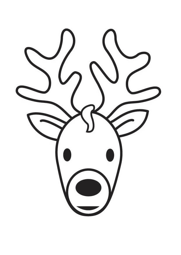 Coloring page Stag Head img 17872