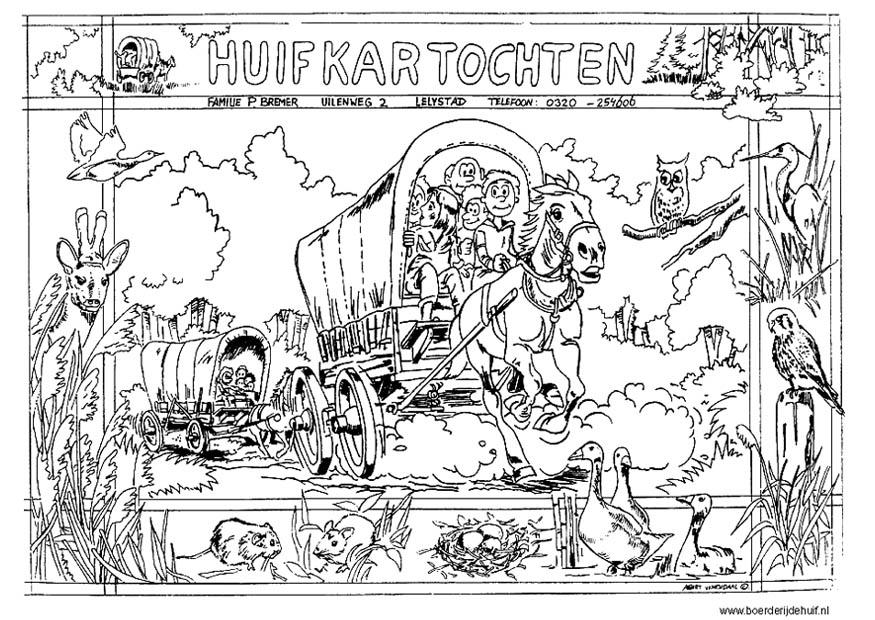 Coloring Page Stagecoach Img 12174