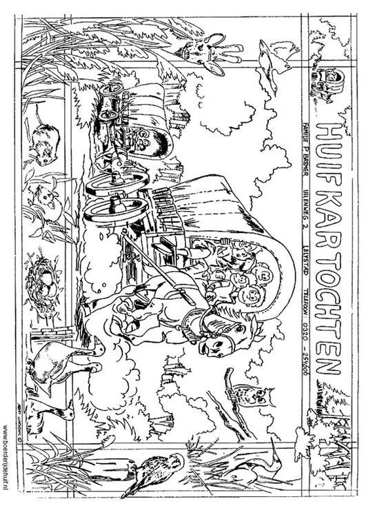 Coloring page stagecoach - img 12174.