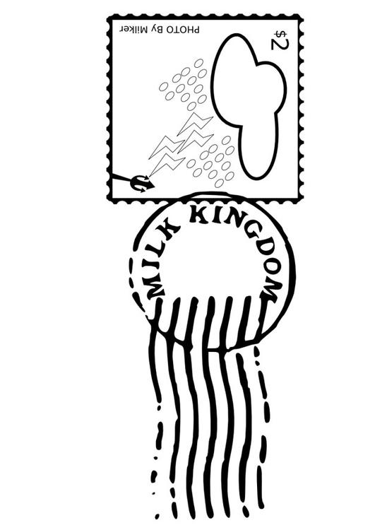 stamped postage stamp