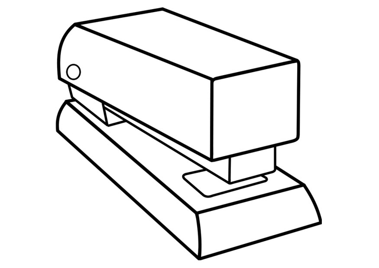 Coloring page stapler