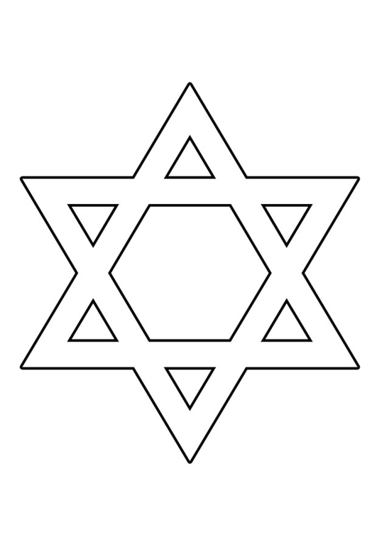 Coloring page Star of David img 22515