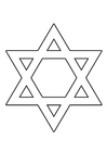 Coloring page Star of David