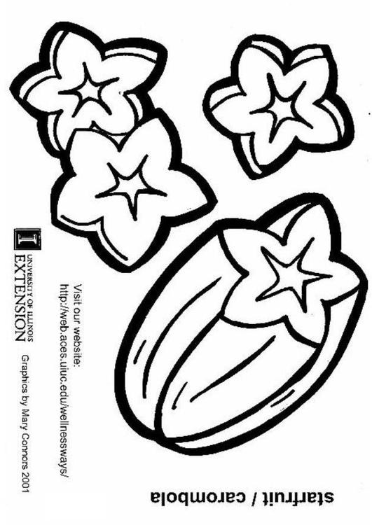 Coloring Page Starfruit