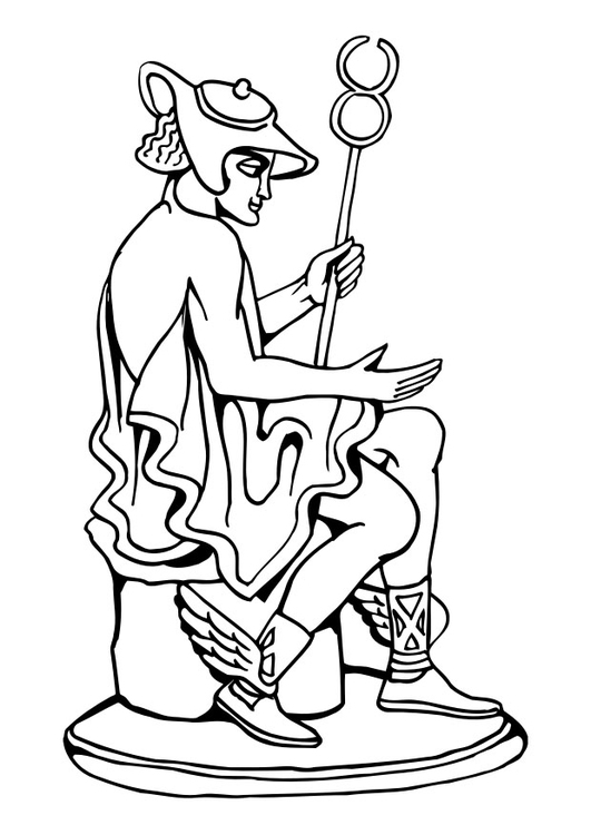 Coloring page statue