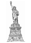 Coloring page Statue of Liberty New York