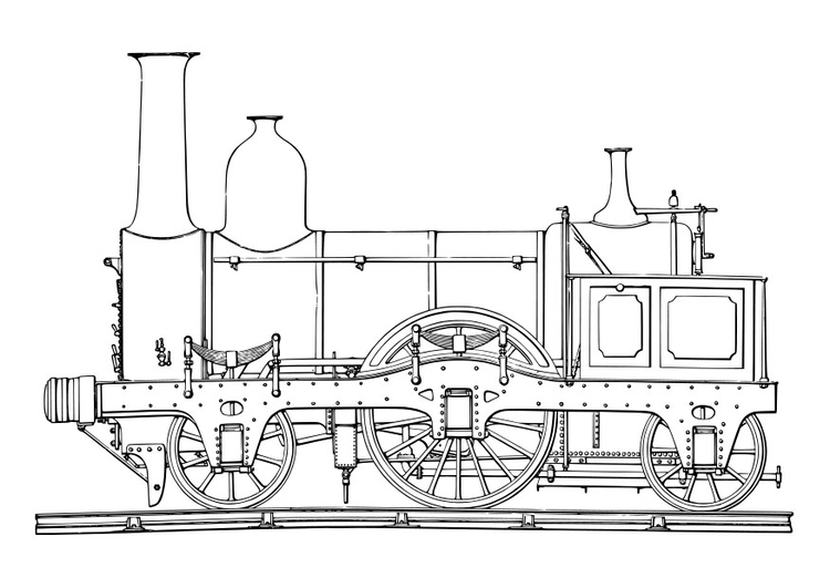 Coloring page steam engine