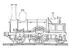 Coloring pages steam engine