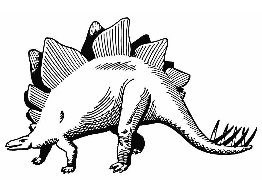 Coloring page stegosaurus img 13284