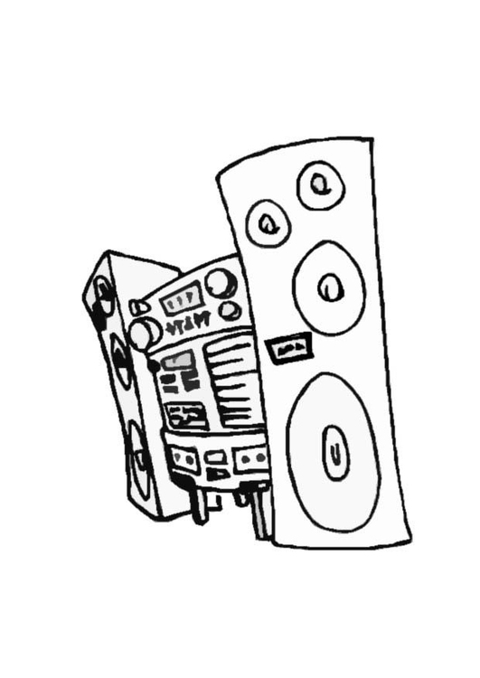 Coloring page stereo