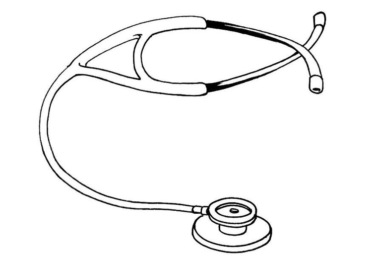 Coloring page stethoscope