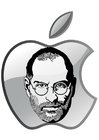 Coloring pages Steve Jobs - Apple