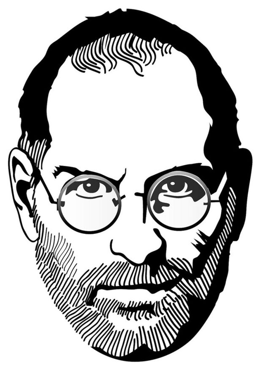 Coloring page Steve Jobs
