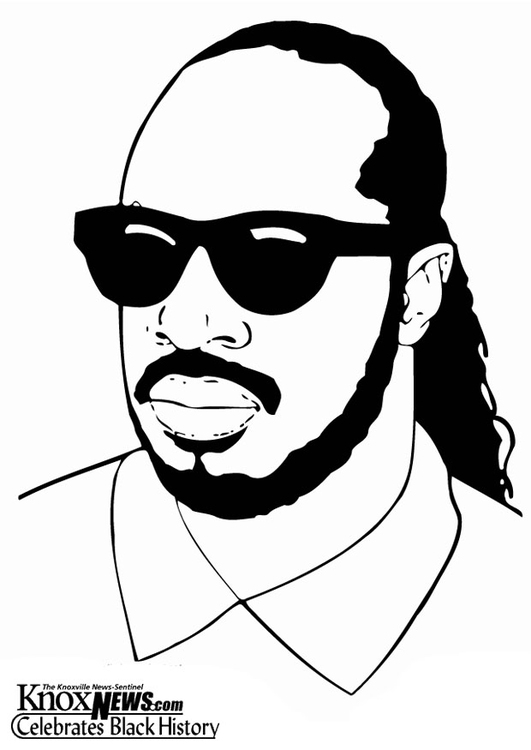 Coloring page Stevie Wonder