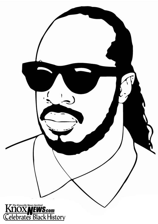 Coloring page Stevie Wonder - img 13328.