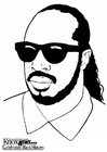 Coloring pages Stevie Wonder