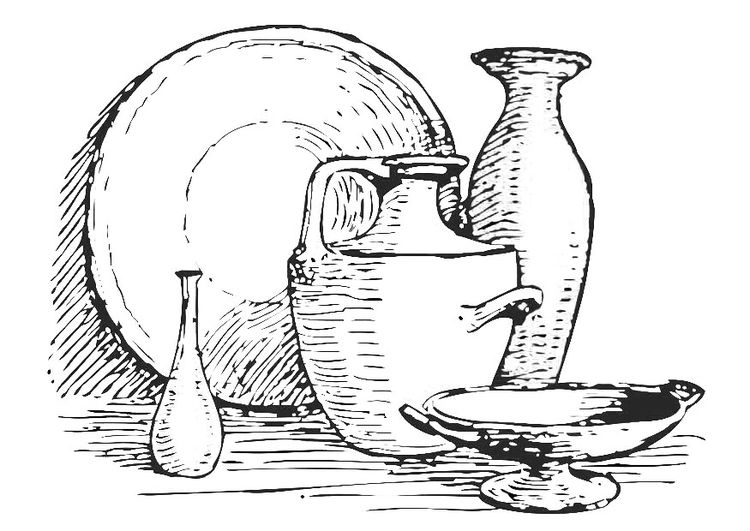 Coloring page still life