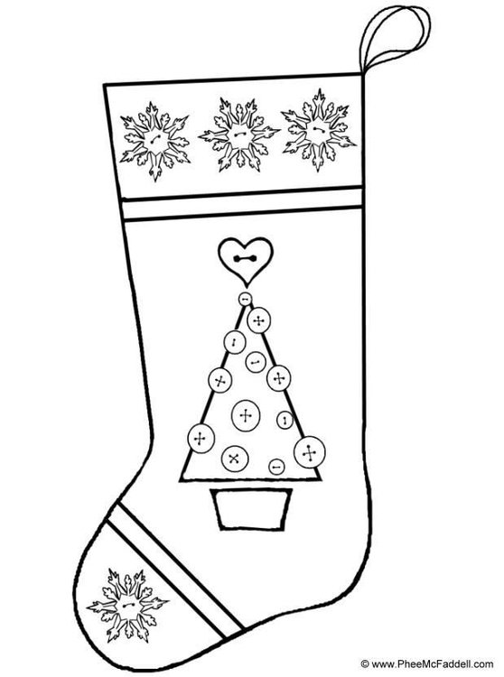 Coloring Page Christmas Stocking