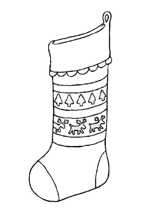 Coloring page Stocking