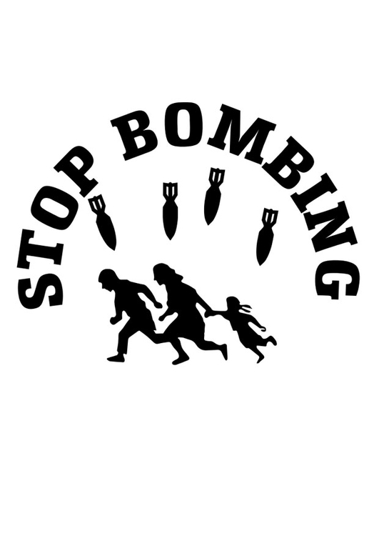 Coloring page stop bombings