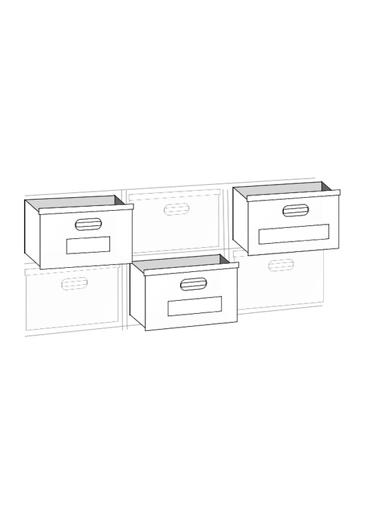 Coloring page storage boxes